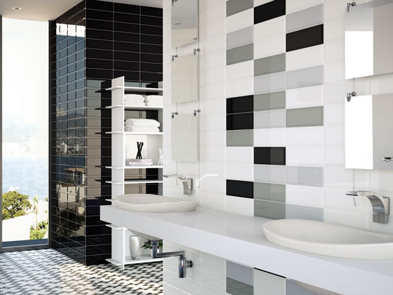 piekne cegiełki dodają uroku łazience